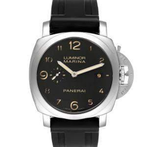 Panerai Black Stainless Steel Luminor Marina 1950 PAM00359 Men's Wristwatch 44 MM