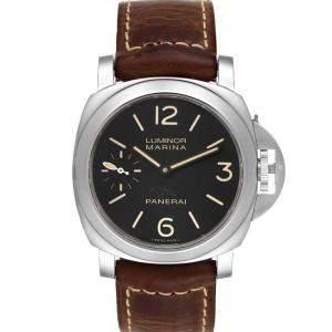 Panerai Grey Stainless Steel Luminor Marina Acciaio PAM00463 Men's Wristwatch 44 MM