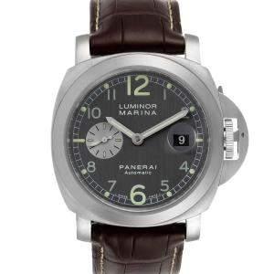 Panerai Grey Stainless Steel Luminor Marina Firenze PAM00086 Men's Wristwatch 44 MM