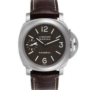 Panerai Brown Titanium Luminor Marina PAM00118 Men's Wristwatch 44 MM