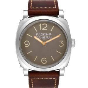 Panerai Brown Stainless Steel Radiomir 1940 PAM00662 Men's Wristwatch 47 MM