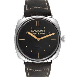 Panerai Black Stainless Steel Radiomir SLC Acciaio PAM00425 Men's Wristwatch 43 MM