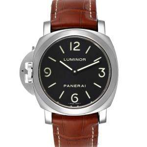 Panerai Black Stainless Steel Luminor PAM00219 Men's Wristwatch 44 MM