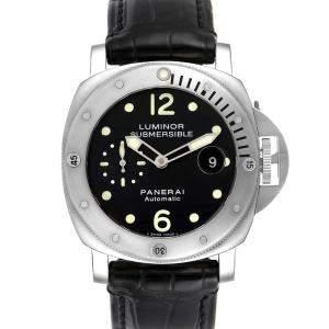Panerai Black Ttanium Luminor Submersible PAM00024 Men's Wristwatch 44 MM