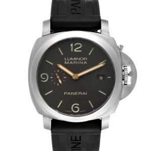 Panerai Black Titanium Luminor Marina 1950 3 Days PAM00351 Men's Wristwatch 44 MM