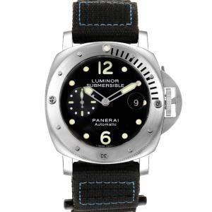 Panerai Black Titanium Luminor Submersible PAM00024 Men's Wristwatch 44 MM