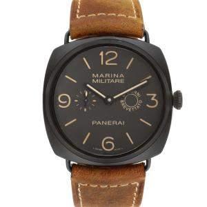Panerai Brown Composite Radiomir Marina PAM00339 Men's Wristwatch 47 MM