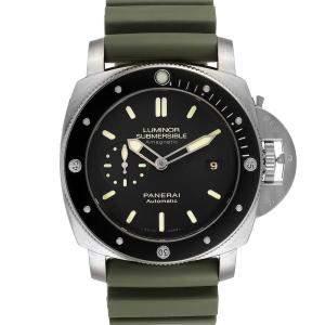 Panerai Black Titanium Luminor Submersible 1950 PAM00389 Men's Wristwatch 47 MM