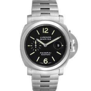 Panerai Black Stainless Steel Luminor Marina Automatic PAM00299 Men's Wristwatch 44 MM
