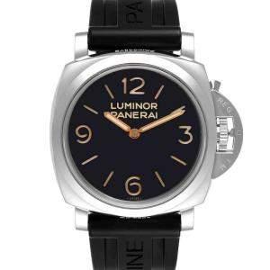 ساعة يد رجالية بانيراي لومينور مارينا  بي أيه أم00372 ستانلس ستيل أسود 47 مم