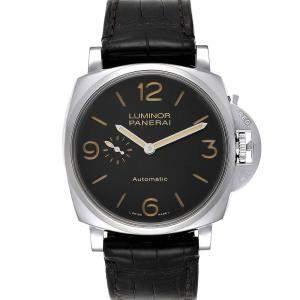 Panerai Black Stainless Steel Luminor Due 3 Days PAM00674 Men's Wristwatch 45 MM