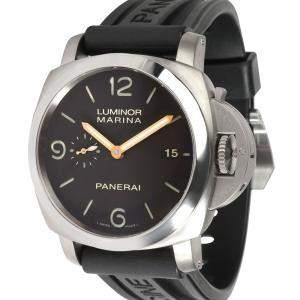 Panerai Black Titanium Luminor Marina 1950 PAM00351 Men's Wristwatch 44 MM