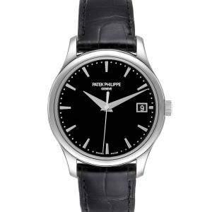 Patek Philippe Black 18K White Gold Calatrava Hunter 5227 Men's Wristwatch 38 MM