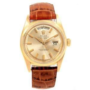 Rolex Gold 18K Yellow Gold President Day Date 1802 Men's Wristwatch 36 MM