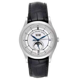 Patek Philippe Silver 18K White Gold Annual Calendar 5396 Men's Wristwatch 39MM