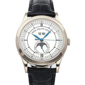 Patek Philippe Silver 18K White Gold Complications Annual Calendar 5396G-001 Men's Wristwatch 38.5 MM