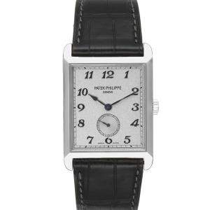 Patek Philippe Silver 18K White Gold Gondolo 5109 Men's Wristwatch 43 x 30 MM