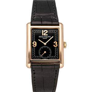 Patek Philippe Black 18K Rose Gold Gondolo 5014R-001 Men's Wristwatch 27 x 35 MM