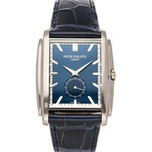 Patek Philippe Blue 18K White Gold Gondolo 5124G-011 Men's Wristwatch 43 x 33.5 MM