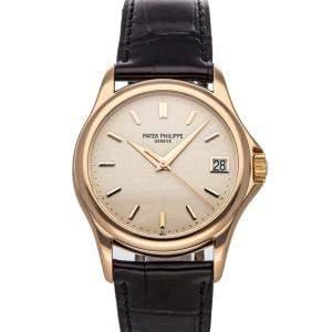 Patek Philippe Ivory 18K Rose Gold Calatrava 5127R-001 Men's Wristwatch 37 MM
