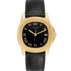 Patek Philippe Black 18k Yellow Gold Aquanaut 5060J Men's Wristwatch 36 MM