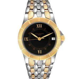 Patek Philippe Black 18K Yellow Gold And Stainless Steel Neptune 5080 Men's Wristwatch 36 MM