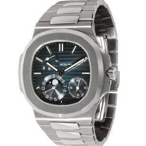 Patek Philippe Blue Stainless Steel Nautilus 5712/1A-001 Men's Wristwatch 40 MM