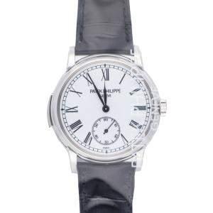 Patek Philippe White Platinum Grand Complications 5078P-001 Men's Wristwatch 38 MM