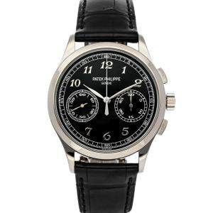 Patek Philippe Black 18K White Gold Complications Chronograph 5170G-010 Men's Wristwatch 39  MM