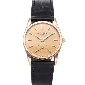 Patek Philippe Rose 18K Rose Gold Calatrava 3796R Men's Wristwatch 30.5 MM