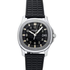 Patek Philippe Black Stainless Steel Aquanaut 5066A-001 Men's Wristwatch 35 MM