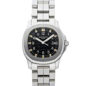 Patek Philippe Black Stainless Steel Aquanaut 5066/1A-010 Men's Wristwatch 34 MM