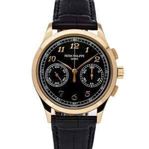 Patek Philippe Black 18K Rose Gold Complications Chronograph 5170R-010 Men's Wristwatch 39 MM