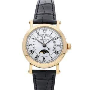 Patek Philippe White 18K Yellow Gold Grand Complications Perpetual Calendar Retrograde 5059J-001 Men's Wristwatch 36 MM