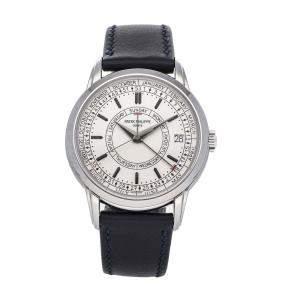 Patek Philippe Silver Stainless Steel Complications Calatrava Weekly Calendar 5212A-001 Men's Wristwatch 40 MM