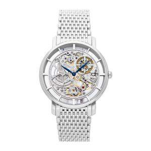 Patek Philippe Silver 18k White Gold Complications Ultra Thin Skeleton Movement 5180/1G-010 Men's Wristwatch 39 MM