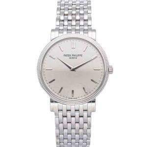 Patek Philippe Silver 18K White Gold Calatrava 5120/1G-001 Men's Wristwatch 35 MM