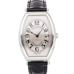Patek Philippe Silver Platinum Gondolo 5098P-001 Men's Wristwatch 32 x 42 MM