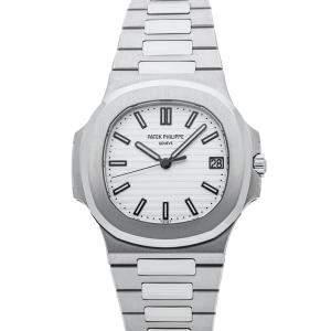 Patek Philippe White Stainless Steel Nautilus 5711/1A-011 Men's Wristwatch 40 MM