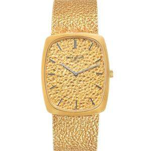 Patek Philippe Champagne 18k Yellow Gold Ellipse Vintage 3567 Men's Wristwatch 32 x 26 MM