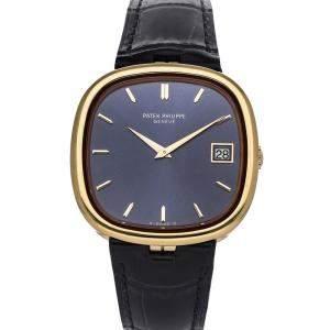 Patek Philippe Blue 18K Yellow Gold Ellipse 3604 Men's Wristwatch 36 MM