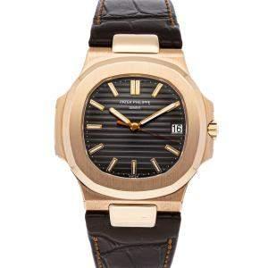 Patek Philippe Brown 18K Rose Gold Nautilus 5711R-001 Men's Wristwatch 40 MM