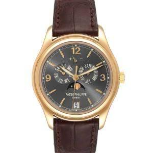 Patek Philippe Grey 18K Yellow Gold Complicated Annual Calendar 5146 Men's Wristwatch 39 MM