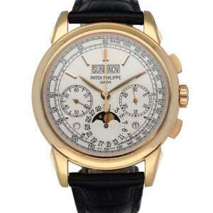 Patek Philippe Silver 18K Rose Gold 5270R Grand Complications Perpetual Men's Wristwatch 41 MM