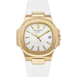 Patek Philippe White 18K Yellow Gold Nautilus 5711J-001 Men's Wristwatch 40 MM