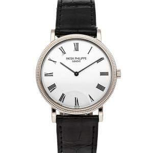 Patek Philippe White 18K White Gold Calatrava 5120G-001 Men's Wristwatch 35 MM