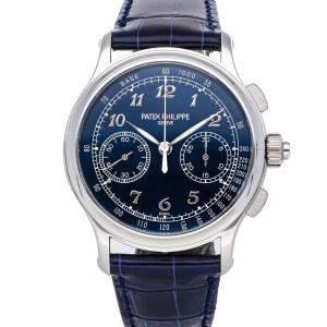 Patek Philippe Blue Platinum Grand Complications Split-Seconds Chronograph 5370P-011 Men's Wristwatch 41 MM