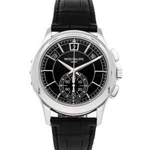 Patek Philippe Black Platinum Complications Chronograph Annual Calendar 5905P-010 Men's Wristwatch 42 MM