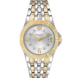 Patek Philippe Silver 18k Yellow Gold And Stainless Steel Neptune 5080 Men's Wristwatch 36 MM