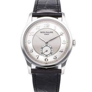 Patek Philippe Silver Platinum Calatrava 5196P-001 Men's Wristwatch 37 MM